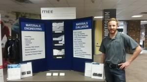Materials Engineer, Neal Hanke, at MEE table top display