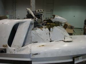 Laboratory Examination of a Crashed Helicopter