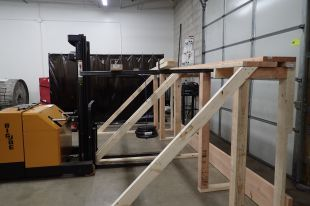 Custom designed test of load capacity for fall protection system