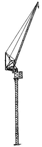 Sketch of Tower Crane with New Section Ready