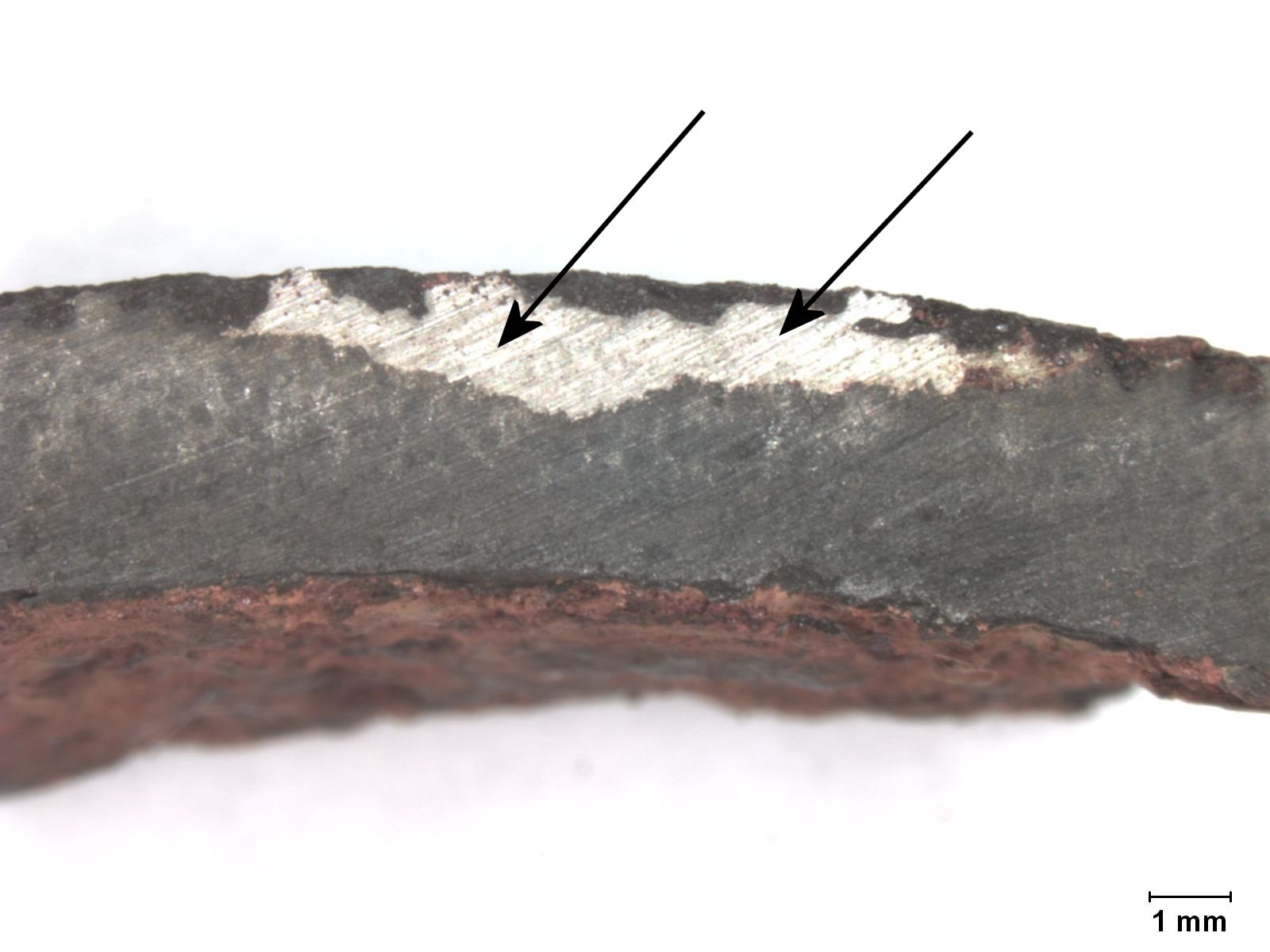 Cross section of vent pipe