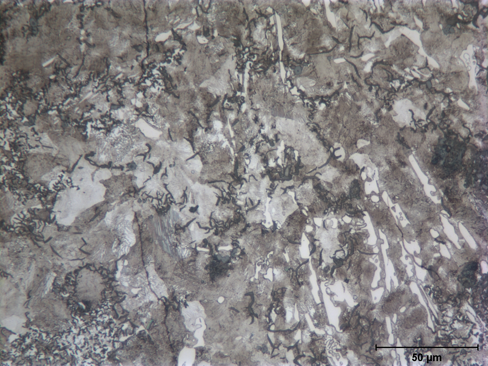 Microstructure of remaining base metal